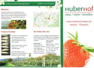 Flyer - Huber Hof - Seite 1